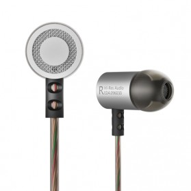 Knowledge Zenith HiFi Metal In-ear Earphones Heavy Bass 9.6mm Driver with Mic - KZ-ED4 - Gun Metallic - 4