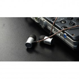 Knowledge Zenith HiFi Metal In-ear Earphones Heavy Bass 9.6mm Driver with Mic - KZ-ED4 - Gun Metallic - 9