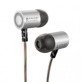 Knowledge Zenith HiFi Metal In-ear Earphones Heavy Bass 9.6mm Driver with Mic - KZ-ED4 - Silver - 2