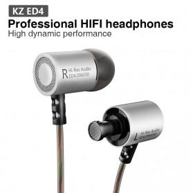 Knowledge Zenith HiFi Metal In-ear Earphones Heavy Bass 9.6mm Driver with Mic - KZ-ED4 - Silver - 3