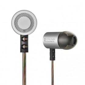 Knowledge Zenith HiFi Metal In-ear Earphones Heavy Bass 9.6mm Driver with Mic - KZ-ED4 - Silver - 4