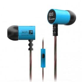 Knowledge Zenith Earphone Heavy Bass 6.8mm Driver dengan Mic - KZ-ED3M - Blue