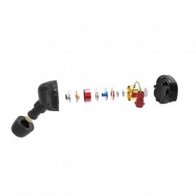 Knowledge Zenith Copper Driver HiFi Sport Earphone with Foam Eartips & Mic - KZ-ATE-S - Black - 6