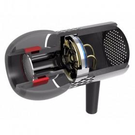 QKZ Balanced Professional Bass In-Ear Earphones with Microphone - QKZ-X3 - Black - 6