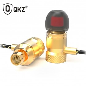 QKZ HiFi Super Bass In-Ear Earphones with Microphone - QKZ-X5 - Golden