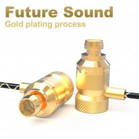 QKZ HiFi Super Bass In-Ear Earphones with Microphone - QKZ-X5 - Golden - 3