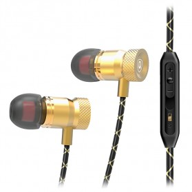 QKZ HiFi Super Bass In-Ear Earphones with Microphone - QKZ-X5 - Golden - 6