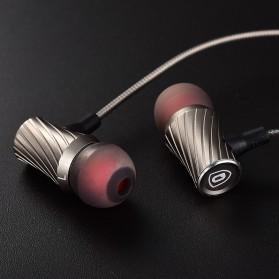 QKZ Tornado Super Bass In-Ear Earphones with Microphone - QKZ-X9 - Silver - 5