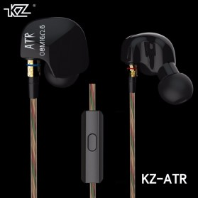 Knowledge Zenith HiFi Earphones Microphone Edition - KZ-ATR - Black - 2