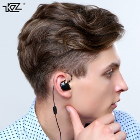 Knowledge Zenith HiFi Earphones Microphone Edition - KZ-ATR - Black - 9