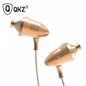 QKZ Super Stereo In-Ear Earphones with Microphone - QKZ-DM5 - Golden