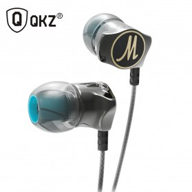 QKZ Stereo Bass In-Ear Earphones with Microphone - QKZ-DM7 - Black