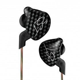 Knowledge Zenith Hybrid Driver Earphone Dengan Mic - KZ-ZST - Black - 1