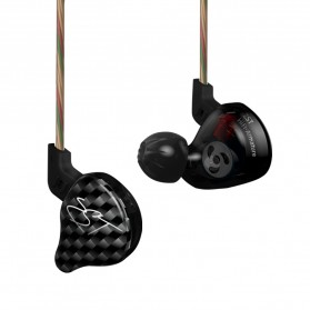 Knowledge Zenith Hybrid Driver Earphone Dengan Mic - KZ-ZST - Black - 2