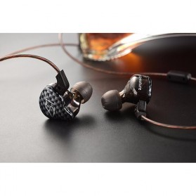 Knowledge Zenith Hybrid Driver Earphone Dengan Mic - KZ-ZST - Black - 5