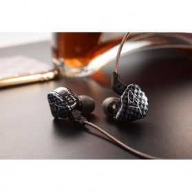 Knowledge Zenith Hybrid Driver Earphone Dengan Mic - KZ-ZST - Black - 6