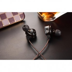 Knowledge Zenith Hybrid Driver Earphone Dengan Mic - KZ-ZST - Black - 7