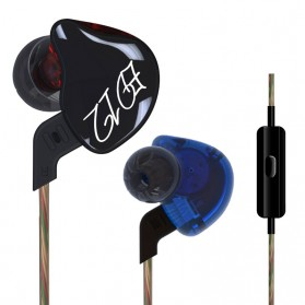 Knowledge Zenith Bass Monitoring Earphones with Mic - KZ-ED12 - Black - 3