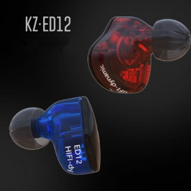 Knowledge Zenith Bass Monitoring Earphones with Mic - KZ-ED12 - Black - 4