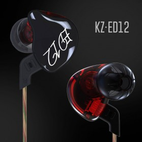 Knowledge Zenith Bass Monitoring Earphones with Mic - KZ-ED12 - Black - 5