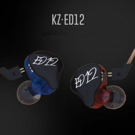 Knowledge Zenith Bass Monitoring Earphones with Mic - KZ-ED12 - Black - 6
