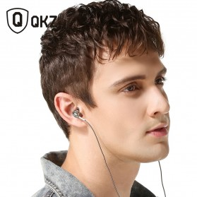 QKZ Bass Metal Earphone with Mic - QKZ-DM9 - Silver - 3