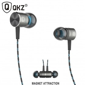 QKZ Magnetic Earphone with Mic - QKZ-X41M - Silver