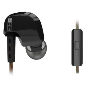 QKZ Dynamic Bass Earphone with Mic - QKZ-DM200 - Black
