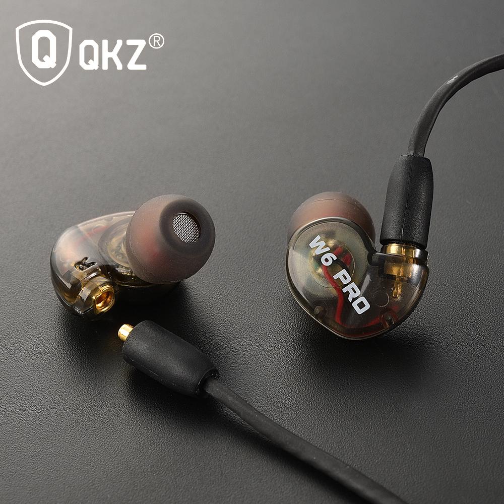 ... QKZ Sport Earphones with Mic - QKZ-W6 PRO - Black - 3 ...