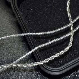 Knowledge Zenith Kabel Silver Earphone 2Pin untuk KZ-ZS3 Matte Version - White - 3