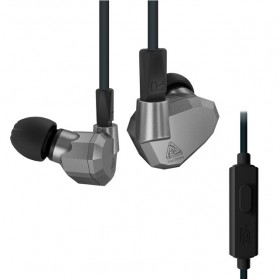 Knowledge Zenith Hybrid Earphone with Mic - KZ-ZS5 - Gray
