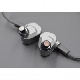 Knowledge Zenith Hybrid Earphone with Mic - KZ-ZS5 - Gray - 11