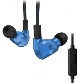 Knowledge Zenith Hybrid Earphone with Mic - KZ-ZS5 - Blue
