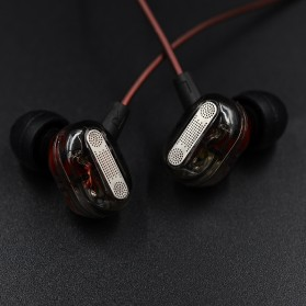 Knowledge Zenith Double Driver Earphone with Mic - KZ-ZSE - Black - 3