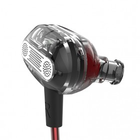 Knowledge Zenith Double Driver Earphone with Mic - KZ-ZSE - Black - 4