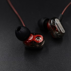 Knowledge Zenith Double Driver Earphone with Mic - KZ-ZSE - Black - 6