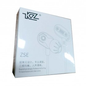 Knowledge Zenith Double Driver Earphone with Mic - KZ-ZSE - Black - 8