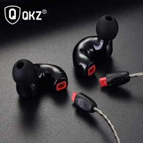 QKZ Triple Driver Earphone Dengan Mic - QKZ-KD9 - Black