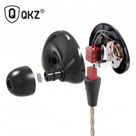 QKZ Triple Driver Earphone Dengan Mic - QKZ-KD9 - Black - 2