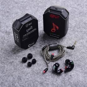 QKZ Triple Driver Earphone Dengan Mic - QKZ-KD9 - Black - 3