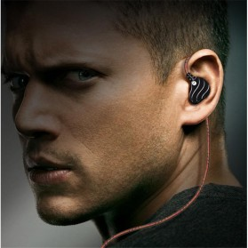 QKZ Double Driver Earphone HiFi Dengan Mic - QKZ-KD4 - Black - 6