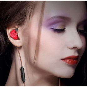 QKZ Double Driver Earphone HiFi Dengan Mic - QKZ-KD4 - Black - 7