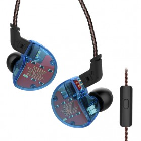 Knowledge Zenith 1DA + 4BA Driver Earphone HiFi Dengan Mic - KZ-ZS10 - Blue