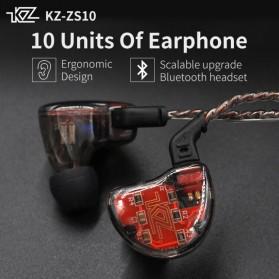 Knowledge Zenith 1DA + 4BA Driver Earphone HiFi Dengan Mic - KZ-ZS10 - Blue - 4