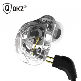 QKZ 4 Dynamic Driver Earphone HiFi Dengan Mic - QKZ-VK1 - Transparent