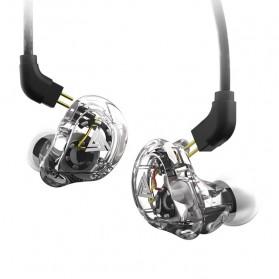 QKZ 4 Dynamic Driver Earphone HiFi Dengan Mic - QKZ-VK1 - Transparent - 3