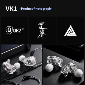 QKZ 4 Dynamic Driver Earphone HiFi Dengan Mic - QKZ-VK1 - Transparent - 8