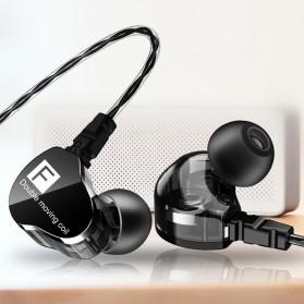 QKZ Dual Driver Earphone HiFi Dengan Mic - QKZ-CK9 - Black - 2