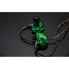Knowledge Zenith 6 Coil Driver Earphone Dengan Mic - KZ-ZSR - Black - 9
