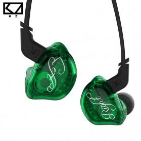 Knowledge Zenith 6 Coil Driver Earphone Dengan Mic - KZ-ZSR - Green